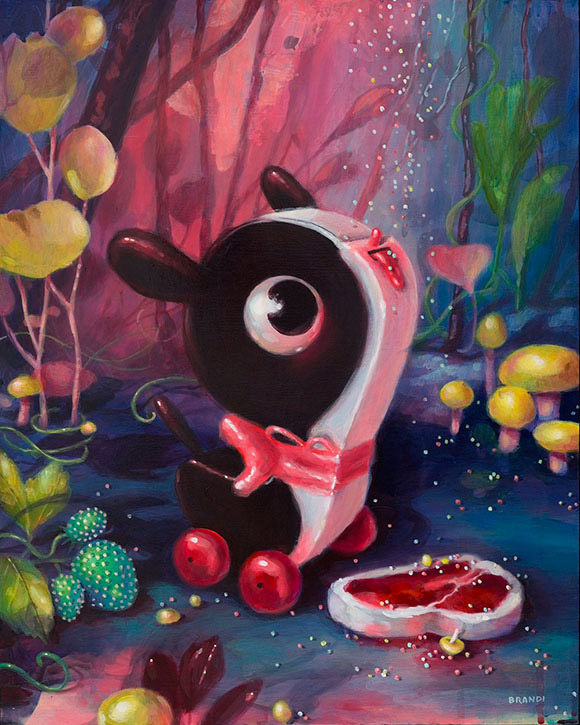 Brandi Milne, The Hand That Feeds You (Feeds You Life Or Feeds You Death) - Once Upon A Quiet Kingdom, Corey Helford Gallery
