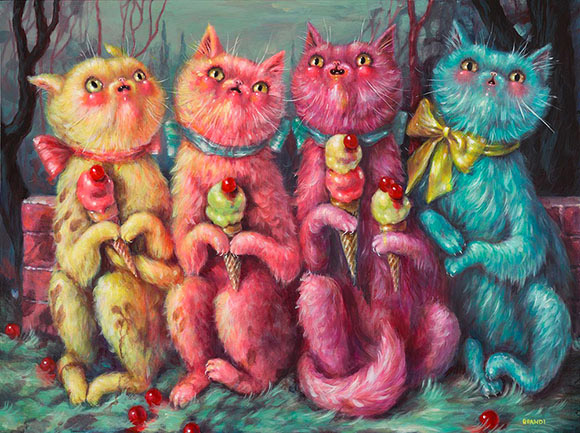 Brandi Milne,  What Are We Afraid Of? - Once Upon A Quiet Kingdom, Corey Helford Gallery