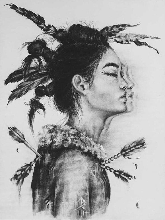 Bella Harris, Trail of Tears   Heart's Blood, Haven Art Gallery