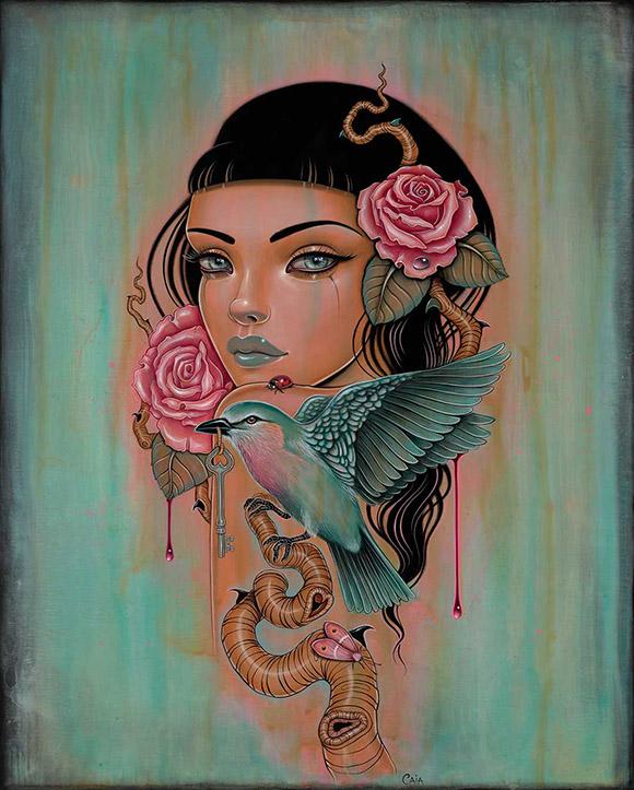 Caia Koopman, Sanguine Skein    Heart's Blood, Haven Art Gallery