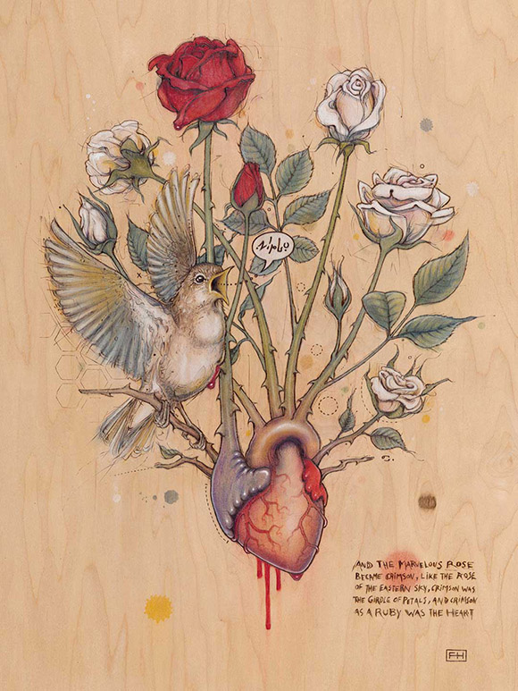 Fay Helfer, Rose Heart | Heart's Blood, Haven Art Gallery