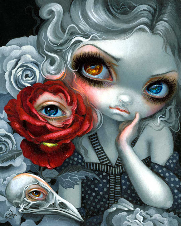 Jasmine Becket-Griffith, The Nightingale and the Rose | Heart's Blood, Haven Art Gallery