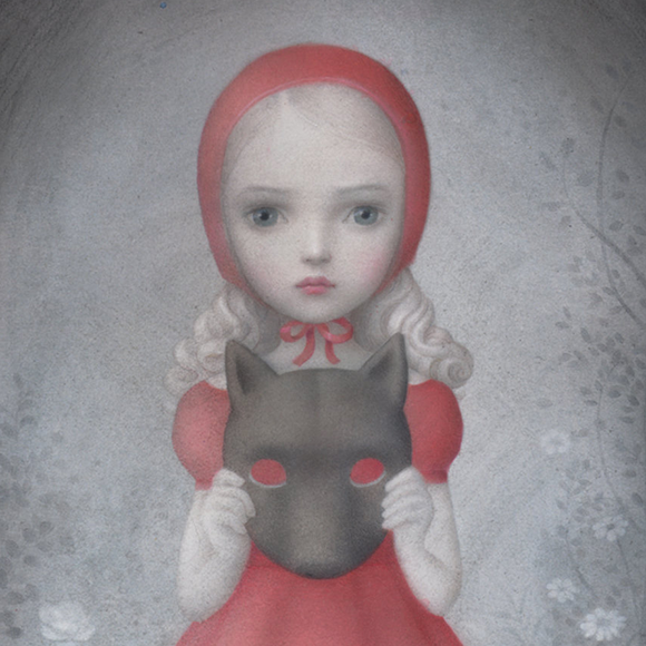 Nicoletta Ceccoli, My Favorite Costume - Hide and Seek, Corey Helford Gallery