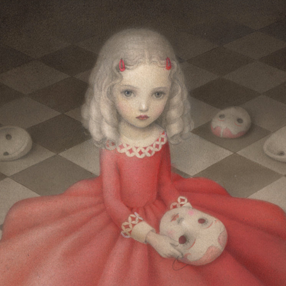 Nicoletta Ceccoli, A Girl Hides Secrets - Hide and Seek, Corey Helford Gallery