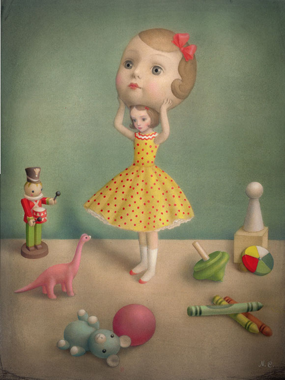 Nicoletta Ceccoli, In Disguise - Hide and Seek, Corey Helford Gallery