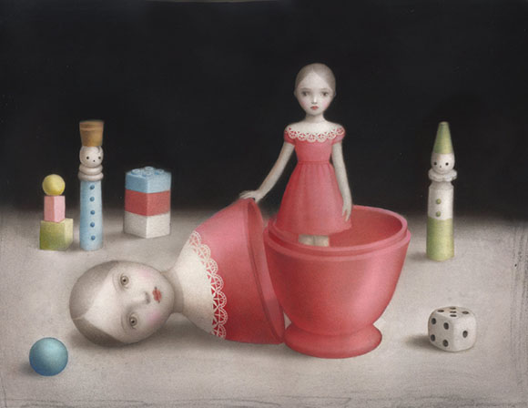 Nicoletta Ceccoli, Inner Self - Hide and Seek, Corey Helford Gallery