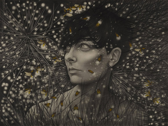 Alessia Iannetti, And They Run to the Pines | Aurora Consurgens, Corey Helford Gallery