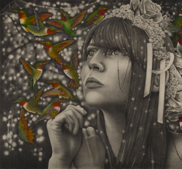 Alessia Iannetti, Ruby Throats | Aurora Consurgens, Corey Helford Gallery