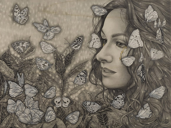 Alessia Iannetti, Lacryphagy | Aurora Consurgens, Corey Helford Gallery