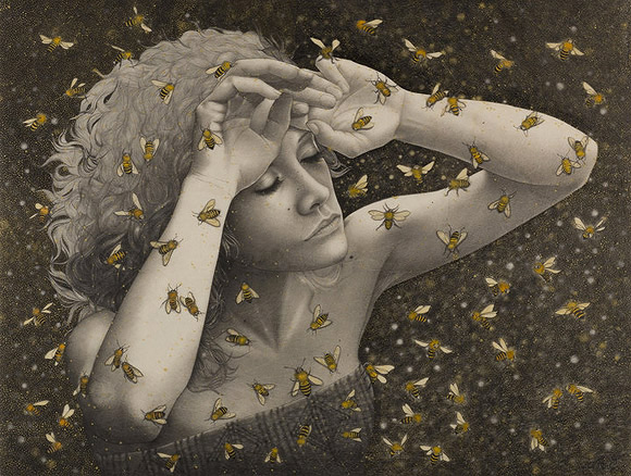 Alessia Iannetti, Queen Bee | Aurora Consurgens, Corey Helford Gallery