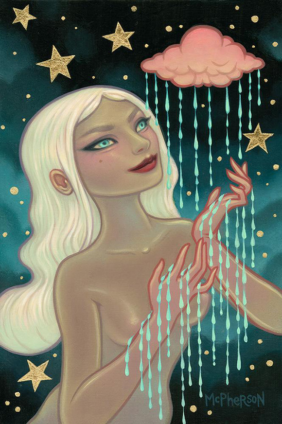 Tara McPherson, Falling Under Gravity - Ephemeral, Modern Eden Gallery