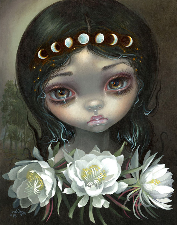 Jasmine Becket-Griffith, Queen of the Night Blooms - Ephemeral, Modern Eden Gallery