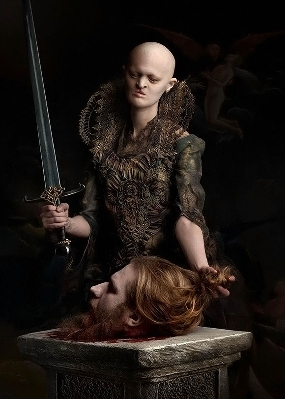 Sylwia Makris, Judith with the Head of Holofernes | Thou Art Darkest