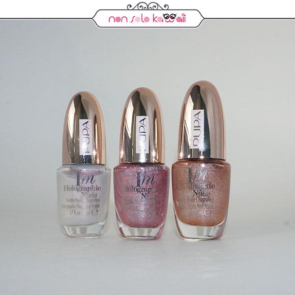 non solo Kawaii | Pupa Milano I'M Holographic Nail Polish 001 Glow Universe, 004 Dancing Violet, 001 Nude Unicorn