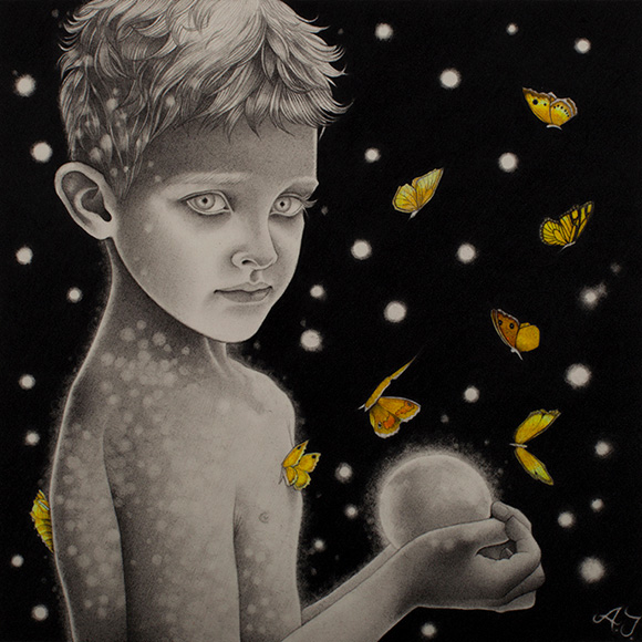 Alessia Iannetti, The Little Boy and the Glowing Globe - Dorothy Circus Gallery London